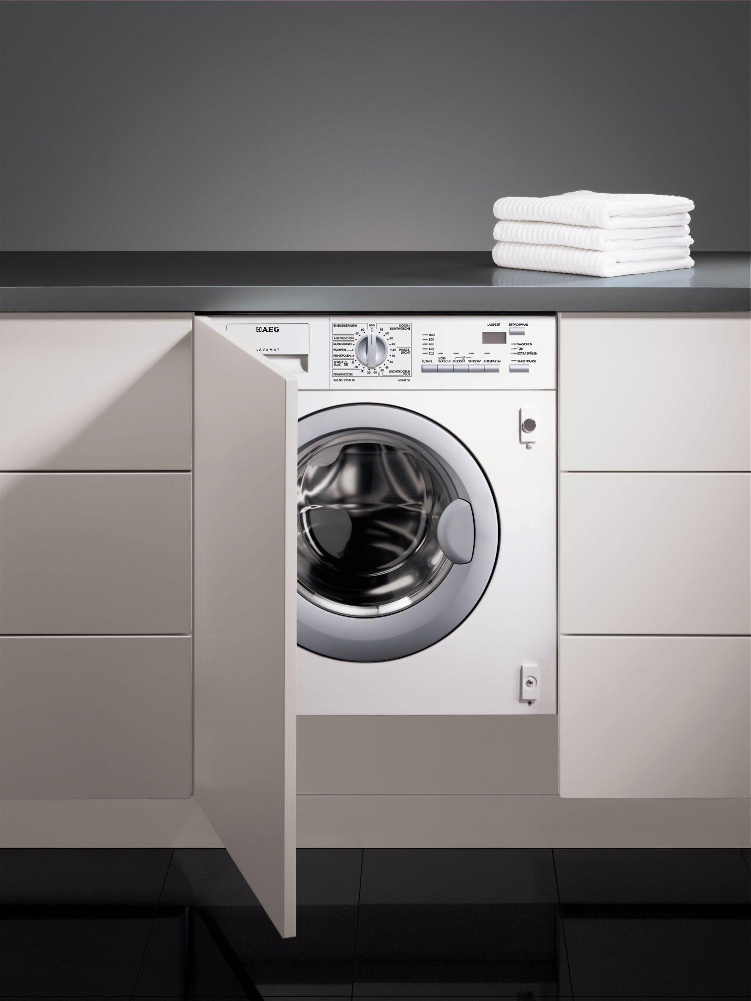 aeg waschmaschine einbau bewusst haushalten. Black Bedroom Furniture Sets. Home Design Ideas
