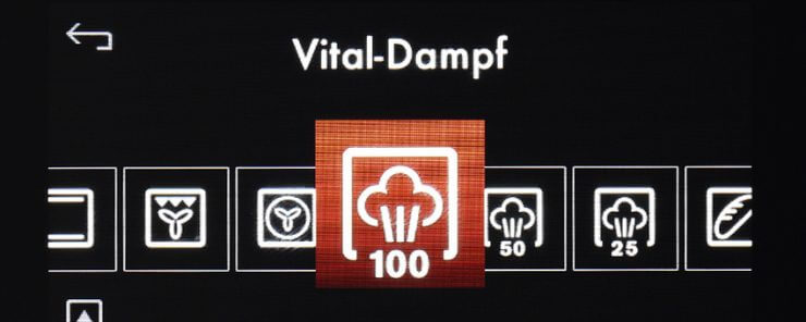 Vital Dampf am Display