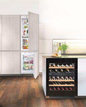 Kühlschrank und Weinkühlschrank