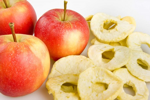 Äpfel und Apfelringe