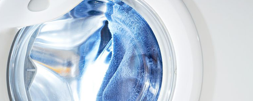 Waschmaschine mit Handtüchern