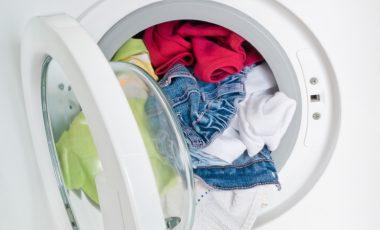 volle Waschmaschine