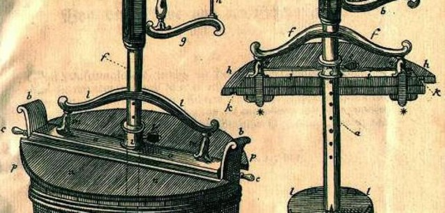 Der Vorgänger der heutigen Waschmaschinen: die Rührflügelmaschine aus dem Jahr 1767