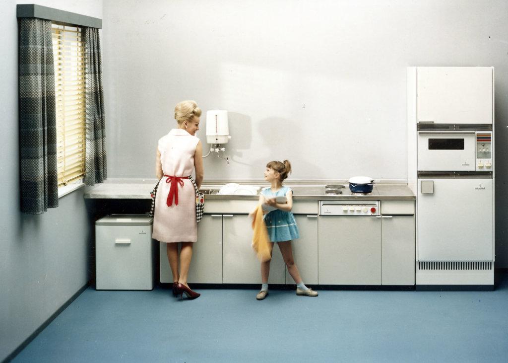 So sah eine Standard-Küche in den 1960ern aus. (Credit: Siemens Historical Institute)