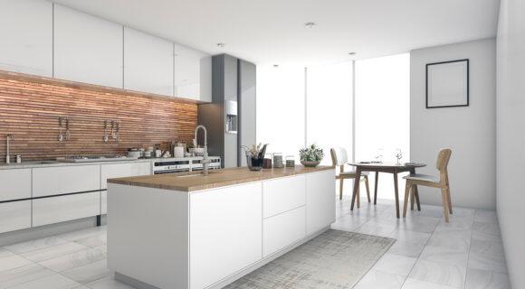 Heute ist die Küchezum Kochen und Wohnen da. (Credit: iStock-667239940)