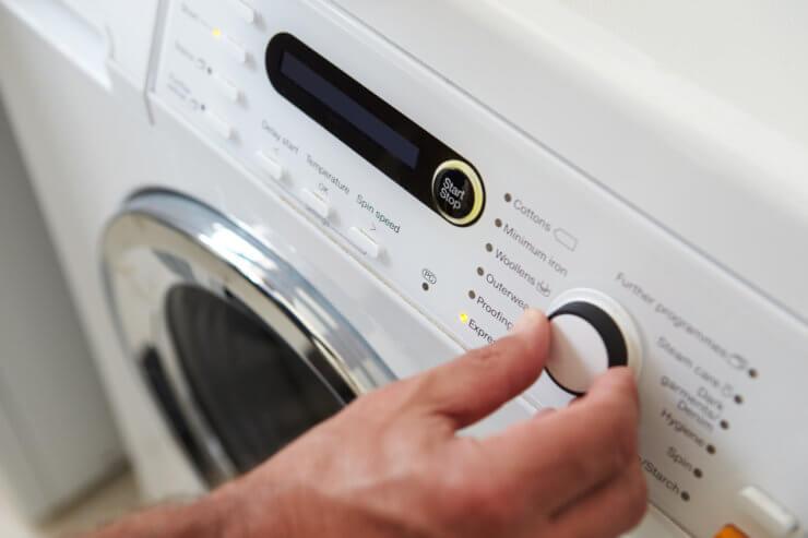 Programmauswahl einer Waschmaschine