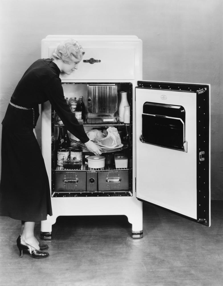 Die Revolution der Vorratshaltung: der Kühlschrank.