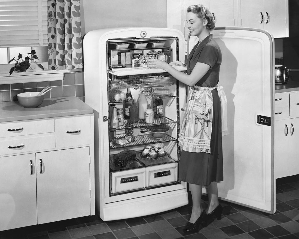 So sahen Kühlschränke in ihren Anfängen aus.