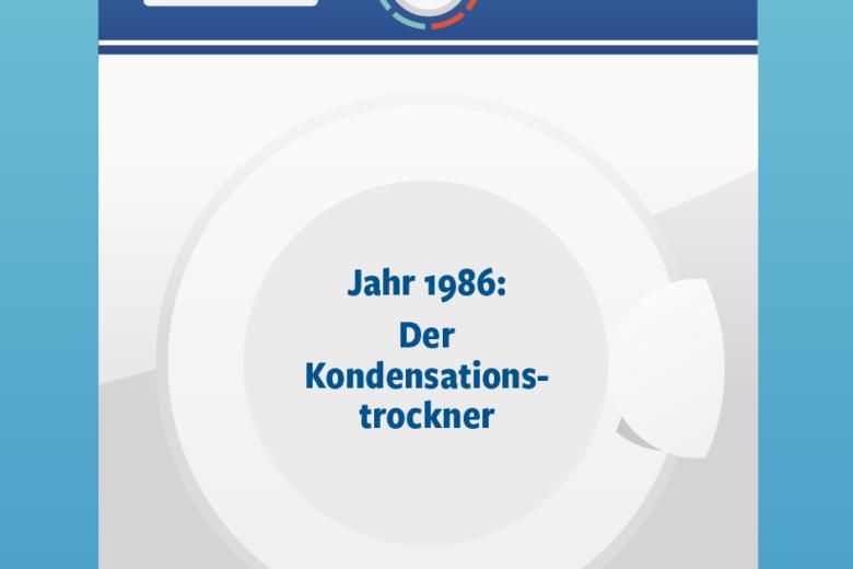 Jahr 1986: Kondensationstrockner Illustration/Wortlaut