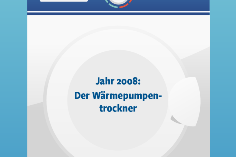 Jahr 2008: Wärmepumpentrockner Illustration/Wortlaut